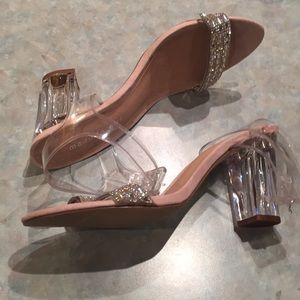 Madden Girl Shoes - Madden girl clear plastic and shiny strap sandals.